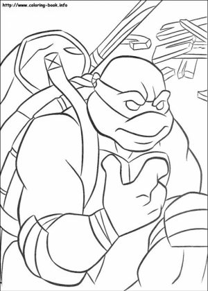 Printable Teenage Mutant Ninja Turtles Coloring Pages   89242