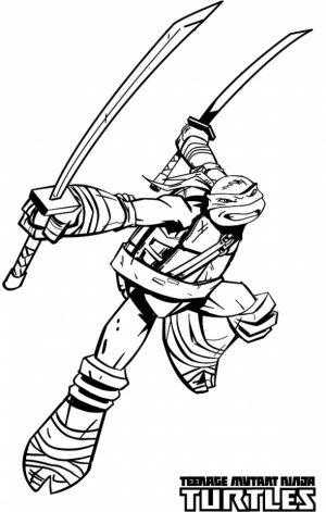 Printable Teenage Mutant Ninja Turtles Coloring Pages Online   78592