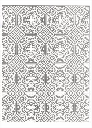 Printable Tessellation Coloring Pages Free   ANCY0