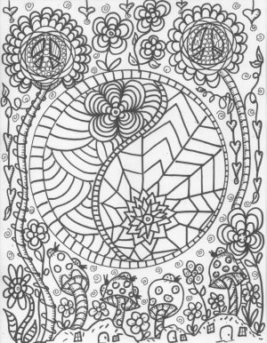 Printable Trippy Coloring Pages for Grown Ups   GT6V6