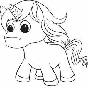Printable Unicorn Coloring Pages   63679