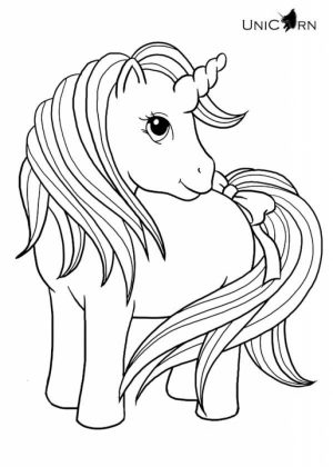 Printable Unicorn Coloring Pages   73400