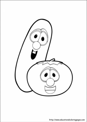 Printable Veggie Tales Coloring Pages Online   vu6h9