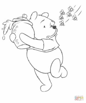 Printable Winny the Pooh Coloring Pages for Preschoolers   48175