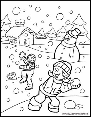 Printable Winter Coloring Pages Online   711869