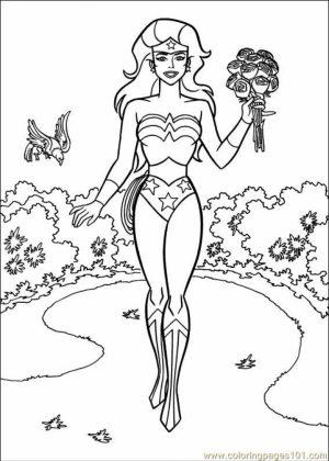 Printable Wonder Woman Coloring Pages Online   gvjp9