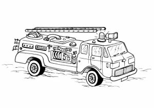 Printables for Toddlers   Fire Truck Coloring Page Online Free   64270