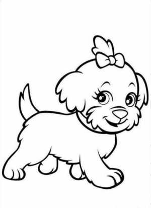 Puppy Coloring Pages Free to Print   NU02M