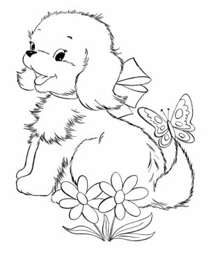 Puppy Coloring Pages to Print Online   625N6