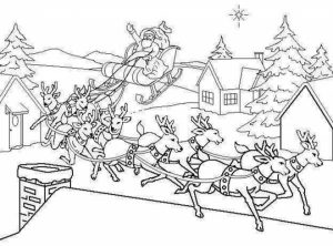 Reindeer Coloring Pages Free for Kids   64721