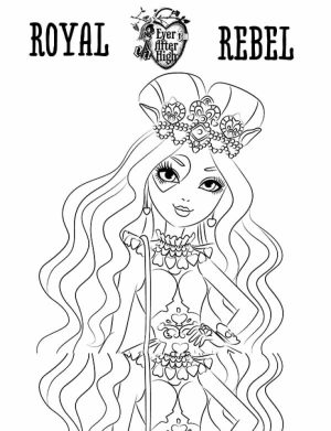 Royal Rebels Ever After High Girl Coloring Pages Printable   PU62B