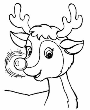 Rudolph Coloring Page Free to Print   NU02M