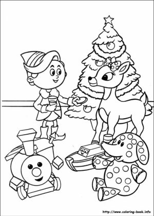 Rudolph Coloring Page to Print for Kids   Q1CIN