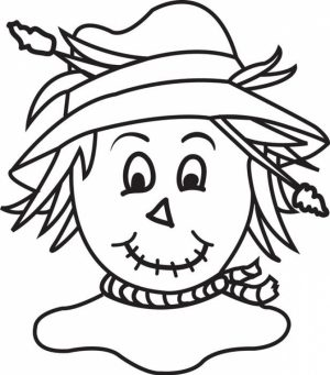 Scarecrow Coloring Pages Free to Print   JU7zm