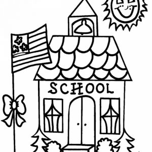 School Coloring Pages for Kids   34fh9