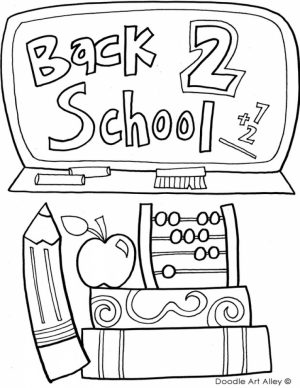 School Coloring Pages for Kids   78cv23