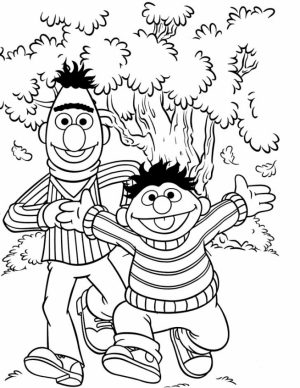 Sesame Street Coloring Pages Kindergarten   64996