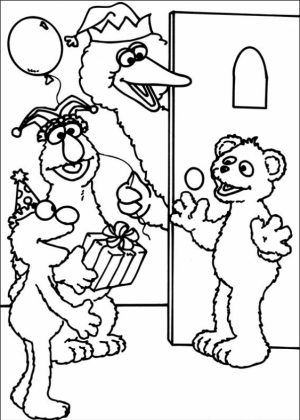 Sesame Street Coloring Pages Kindergarten   gs6cm