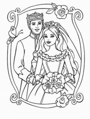 Simple Barbie Coloring Pages to Print for Preschoolers   cdsxi
