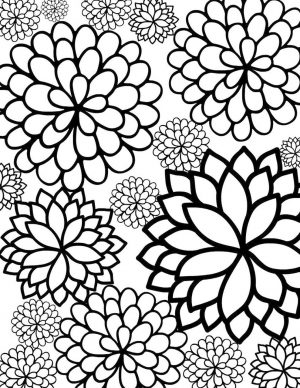 simple floral design coloring pages – 89791