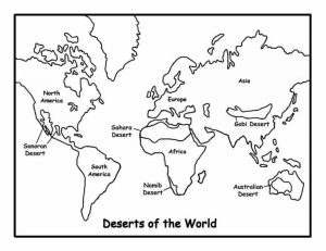 Simple World Map Coloring Pages to Print for Preschoolers   cdsxi