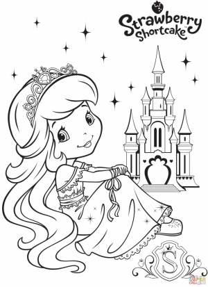 Strawberry Shortcake Printable Coloring Pages   12871