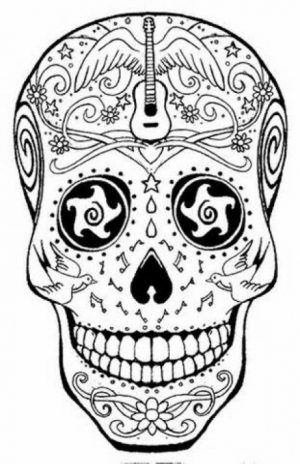 Sugar Skull Coloring Pages Adults Printable   86582