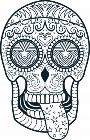 Sugar Skull Coloring Pages for Adults   47193