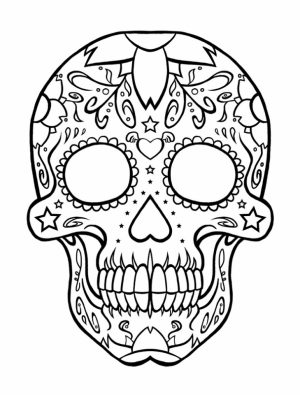 Sugar Skull Coloring Pages for Grown Ups   64521