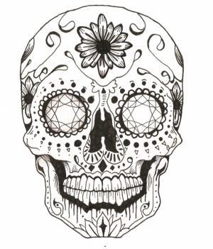 Sugar Skull Coloring Pages Free for Adults   17894
