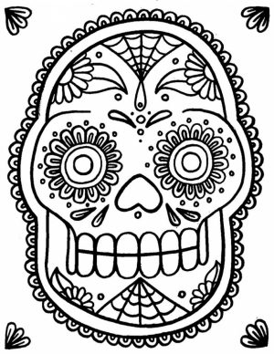 Sugar Skull Coloring Pages Free for Adults   19860