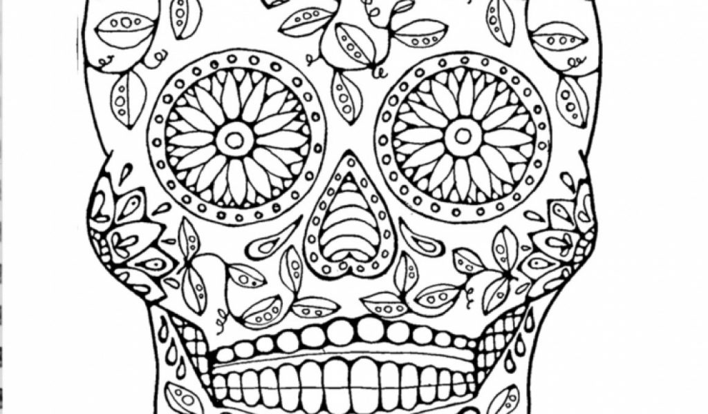 Get This Sugar Skull Coloring Pages Free Printable for ...