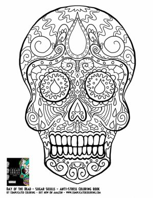 Sugar Skull Coloring Pages to Print for Free   35625