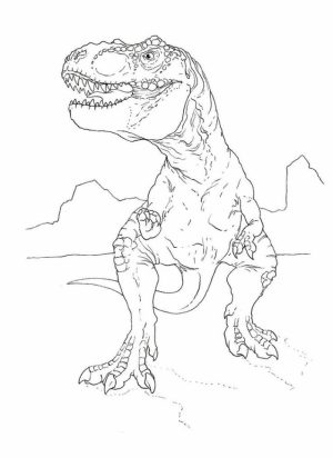 T Rex Coloring Pages Free Printable   51582