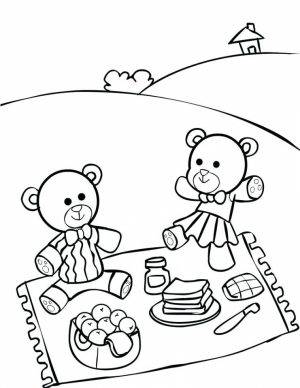 teddy bear picnic coloring pages   uatr6
