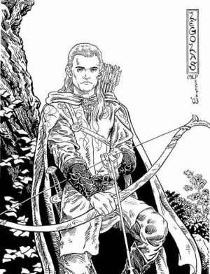 The Hobbit Coloring Pages Free to Print   7839