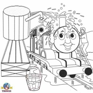 Thomas the Tank Engine Coloring Pages Online   46338