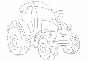 Tractor Coloring Pages Free Printable   56449