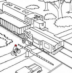 Train Coloring Pages Free Printable   60462