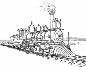 Train Coloring Pages to Print for Free   16925