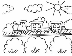 Train Coloring Pages to Print for Kids   75031