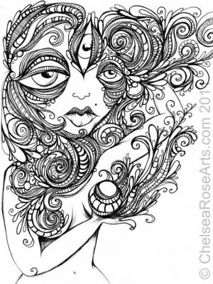 Trippy Coloring Pages for Adults   BH89W