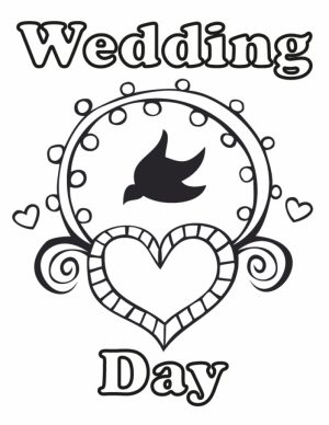 Wedding Coloring Pages Printable   wa71m