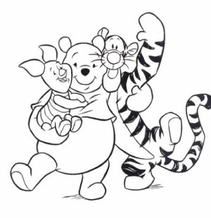 Winnie the Pooh Fun Cartoon Coloring Pages for Kids   05714