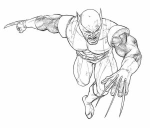 Wolverine Coloring Pages for Toddlers   xM7zV